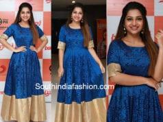 nakshatra nagesh blue gown bvoomerang audio launch