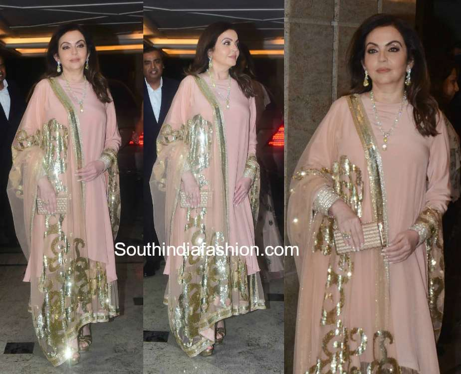 nita ambani at priyanka chopra engagement bash