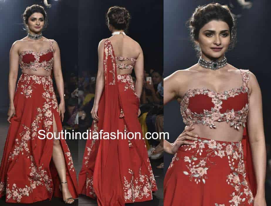prachi desai lehenga julie shah lakme fashion week