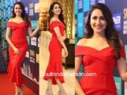 pragya jaiswal red dress siima curtain raiser event