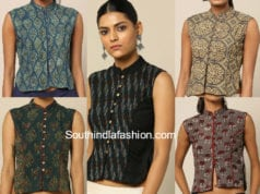 printed long blouses for sarees