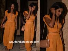 priyanka chopra orange dress manish malhotra party