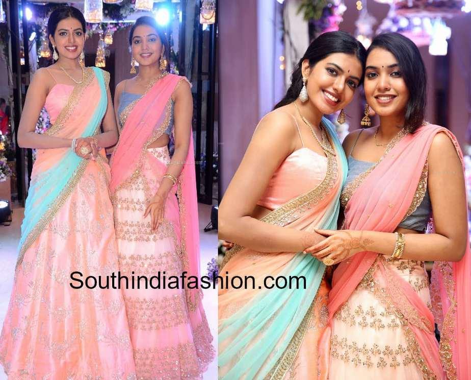 rajasekhar daughters half sarees