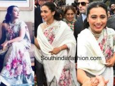 rani mukerji floral sabyasachi saree melbourne film festival