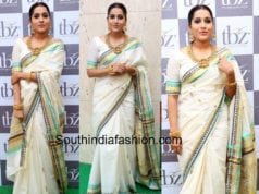 rashmi gautam white saree tbz collection launch