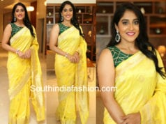 regina cassandra yellow silk saree freedom sunflower oil event