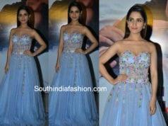 ruhani sharma blue gown chi la sow premiere show