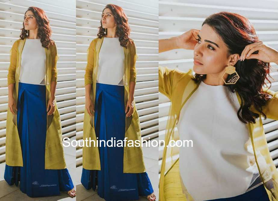 samantha akkineni in payal khandwala dress national handloom day celebrations