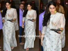 sara ali khan white palazzo suit rakhi celebrations