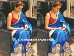 shraddha das blue saree