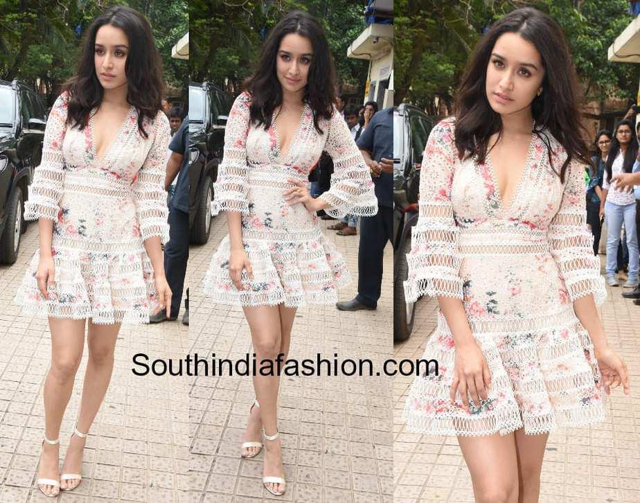 shraddha kapoor white dress