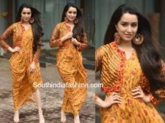 shraddha kapoor yellow dress with jacket stree promotions