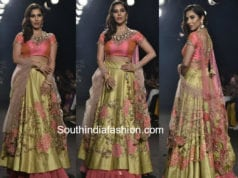 sophie choudry lehenga lakme fashion week 2018