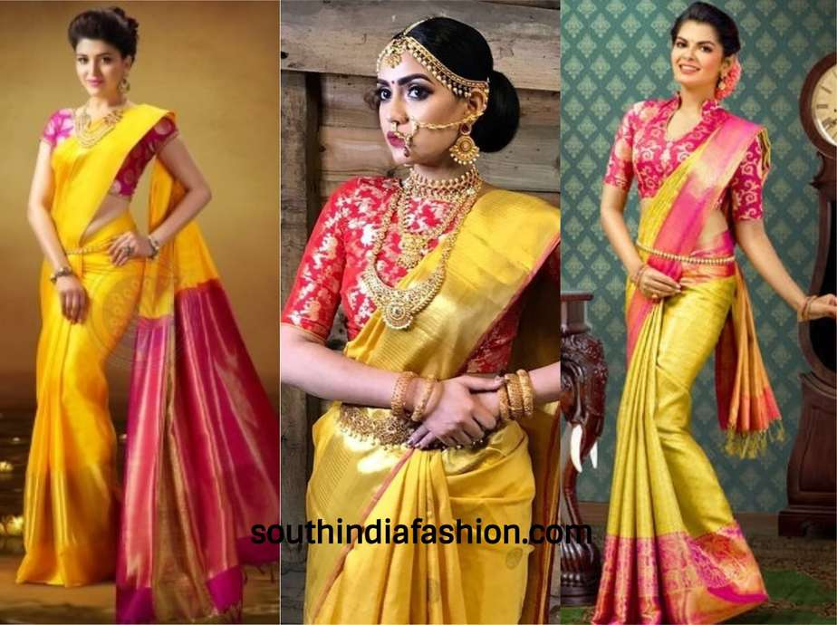 5b11302e97 The Ideal Saree Colors for a Bride to Wear On Her Wedding Day!