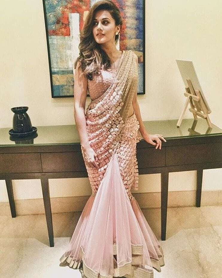 different style saree draping