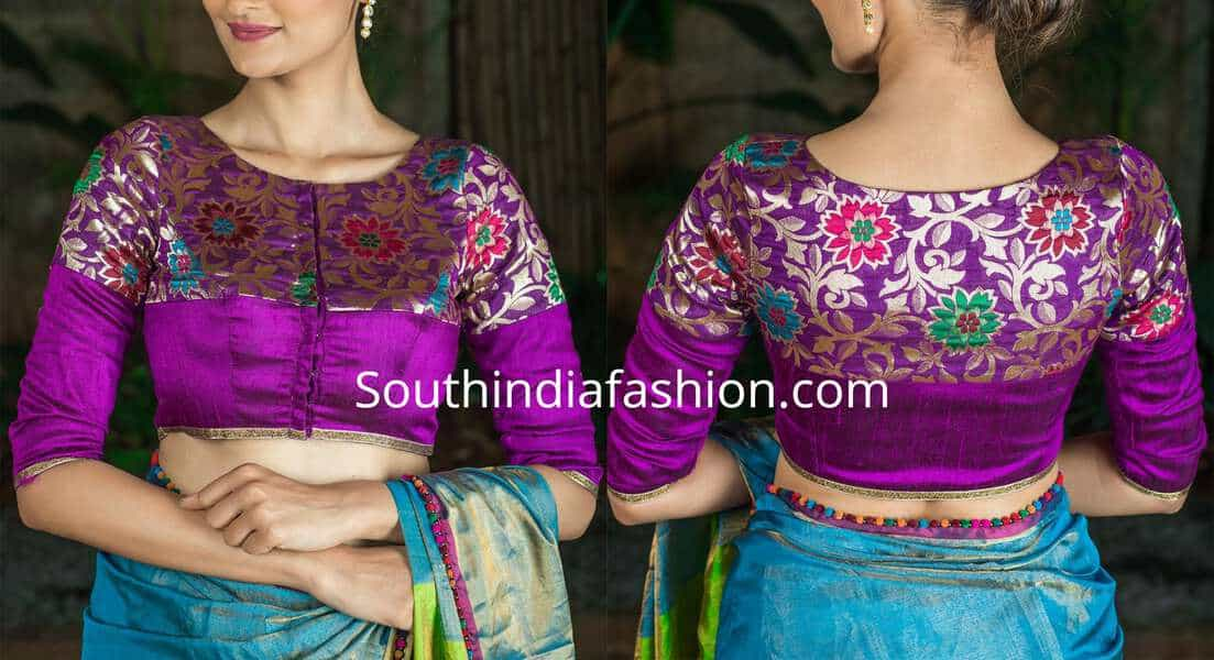 latest brocade blouse designs