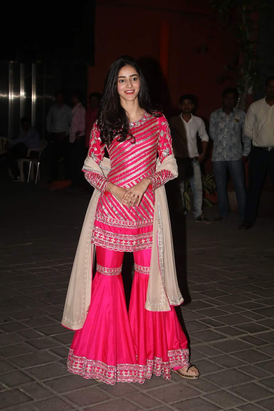 ananya panday sharara manish malhotra