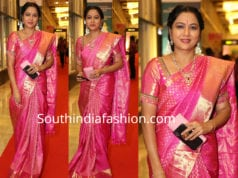 actress hema pink pattu saree santhosham awards 2018