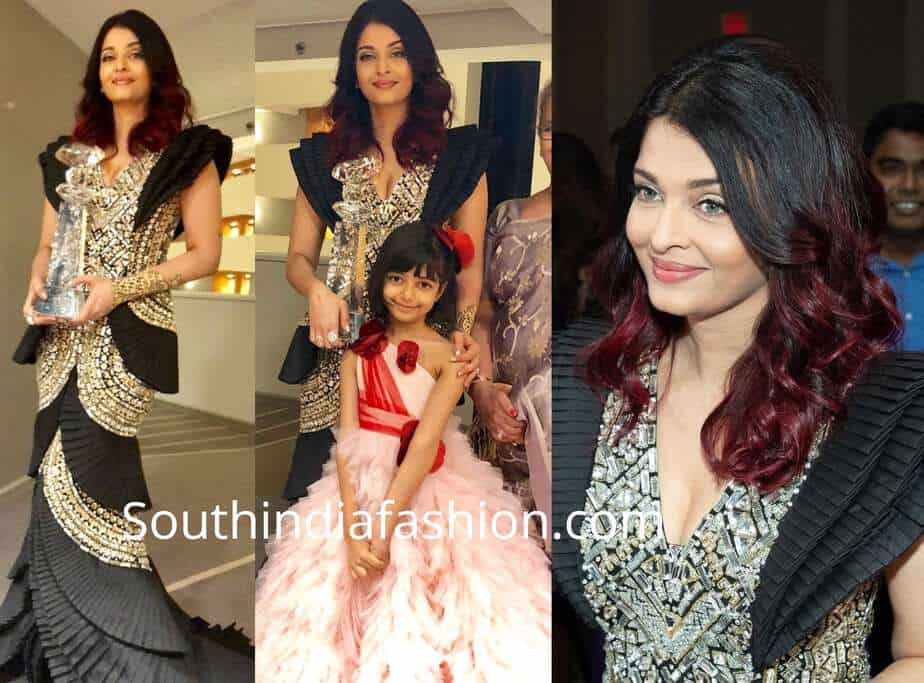 aishwarya and aaradhya at wift awards 2018