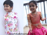 allu arjun son and daughter in traditional wear