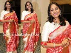 anchor jhansi red silk saree