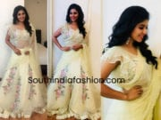 anjali in yellow lehenga for zee telugu dance show