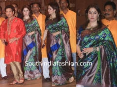 anjali tendulkar silk saree ganesh chaturthi celebrations