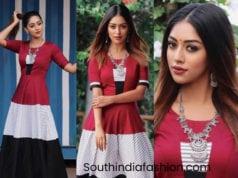 anu emmanuel maxi dress sailaja reddy alludu promotions