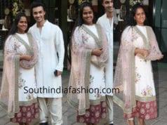 arpita khan sharma sabyasachi salwar suit ganapati celebrations