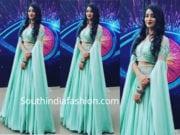 bhanu sri long skirt crop top bigg boss telugu finale