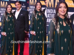 bhumika chawla in green anarkali at siima awards 2018