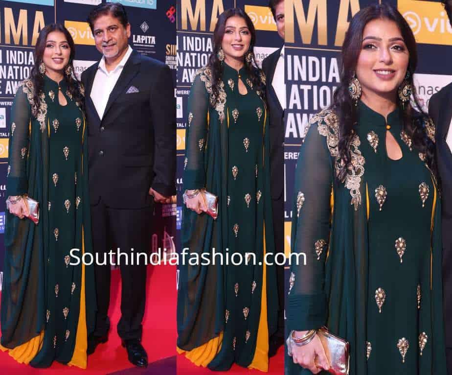 bhumika chawla in green anarkali at siima awards 2018