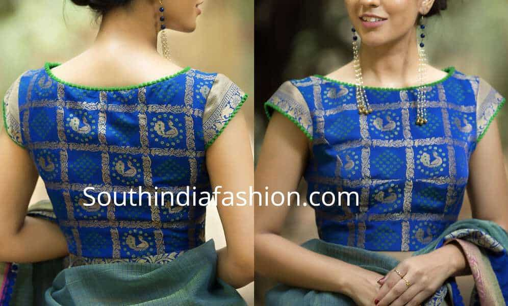 brocade blouse designs