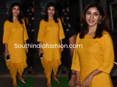 debina bonnerjee yellow kurta dhoti pants