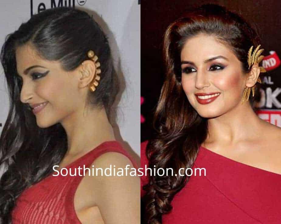 indian actress ear cuffs