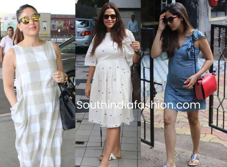 indian actress maternity fashion