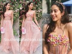 janhvi kapoor pink gown isha ambani engagement party