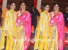 kareena and karisma in yellow outfits at ambani ganesh chaturthi celebrations