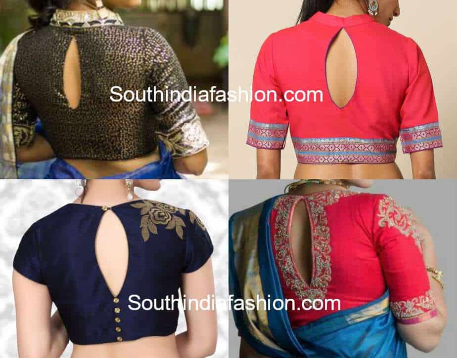 keyhole neckline blouse designs