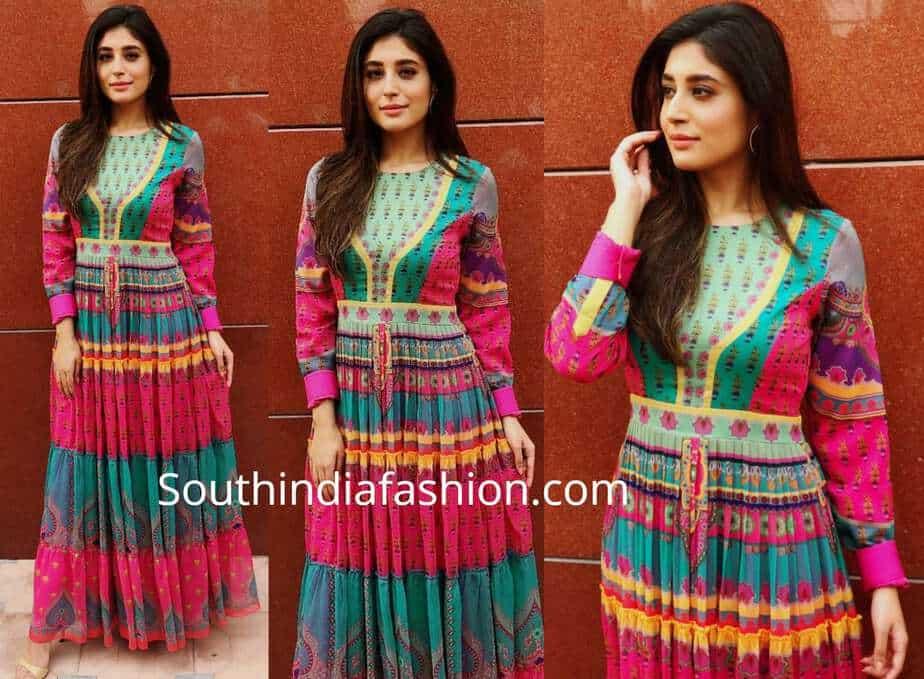 krithika kamra multi color maxi dress