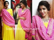 lakshmi manchu yellow anarkali sunaina rao label
