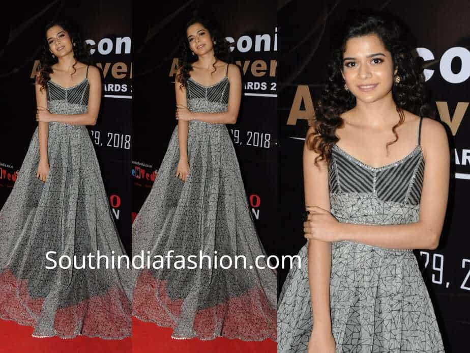 mithila palkar grey maxi dress