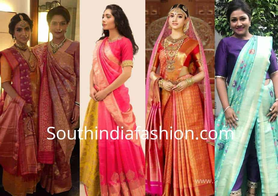 db90dcf9d90 13 Innovative and Modern Saree draping Styles by Dolly Jain!
