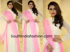nandini rai white lehenga at silly fellows pre release event