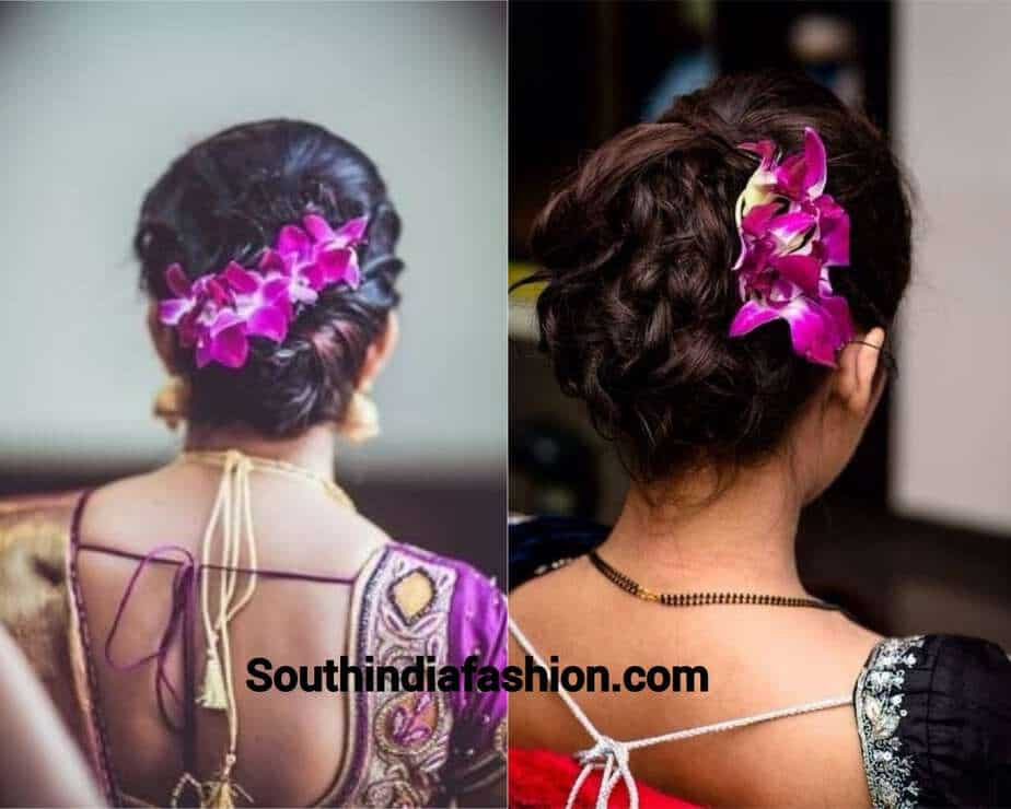 orchids for hair bun