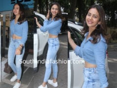 rakul preet singh denim on denim look