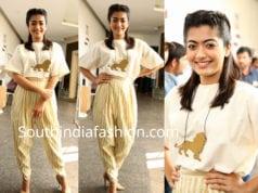 rashmika mandanna dress devadas promotions