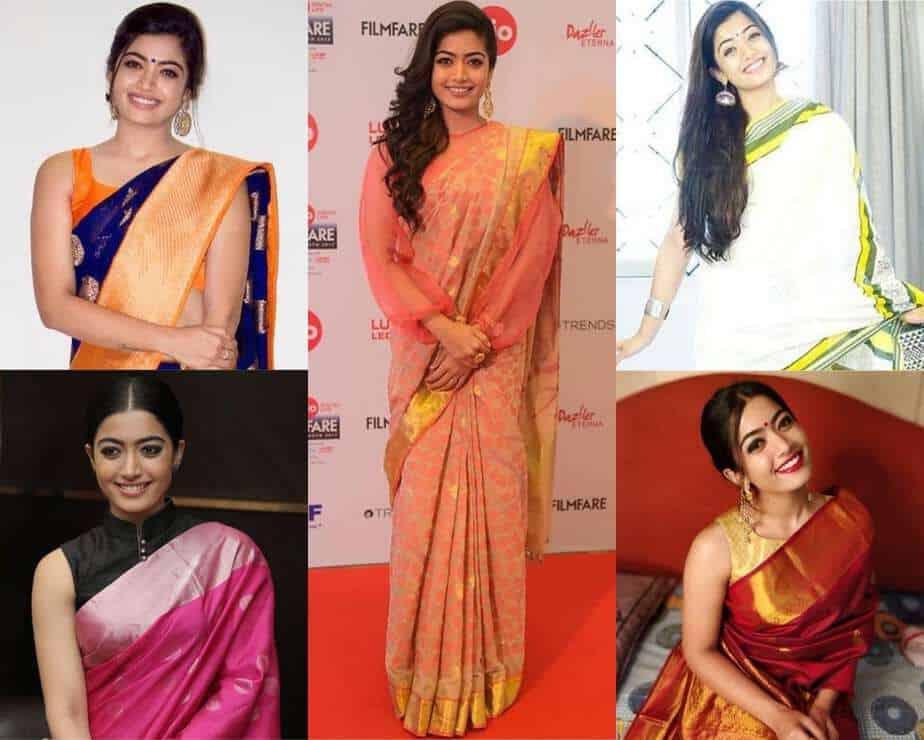 rashmika mandanna saree looks