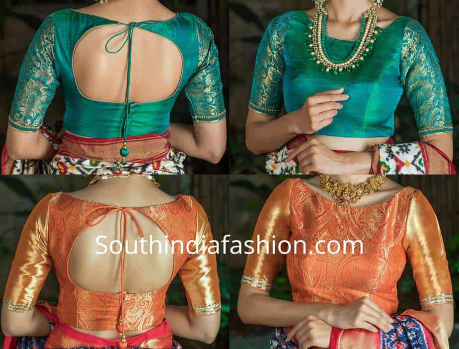latest brocade blouse designs 2018