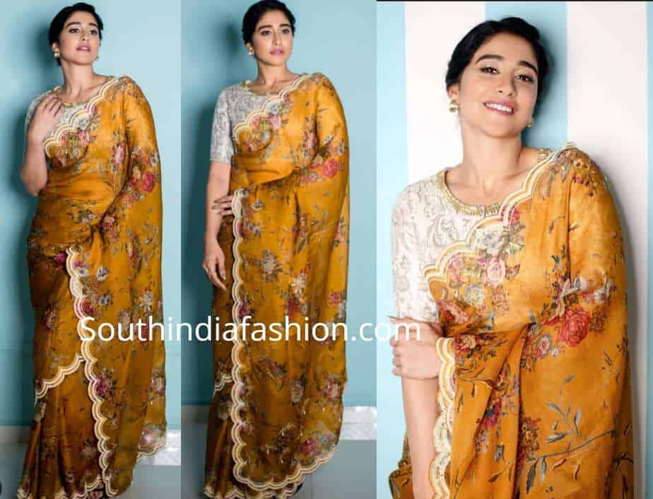 regina cassandra yellow saree sun tv party promotions